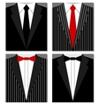 Set of suits vector image vector image