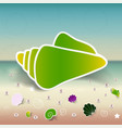 set seashells starfishes and pebbles vector image vector image