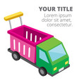 shopping infographic car cart background im vector image