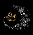 snow gold lettering vector image