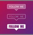 social media follow me frame background vector image
