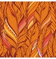 Texture with feathers in orange vector image vector image