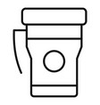 thermos mug icon outline style vector image vector image