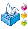 tissue boxes vector image