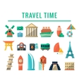 Travel Time Items Collection vector image vector image