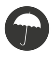 umbrella silhouette isolated icon vector image vector image