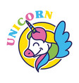 unicorn kid print vector image vector image