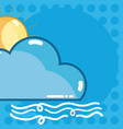 weather forescast concept vector image vector image