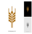 wheat luxury grain and bread labels nature wheat vector image vector image