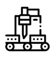 wood plank cutting machine icon outline vector image vector image