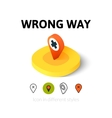 Wrong way icon in different style vector image vector image