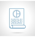 Flat blue line business plan icon vector image