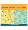 Summer Seamless Floral Pattern vector image
