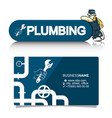a business card for the plumber vector image vector image