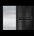 abstract metallic frame carbon kevlar texture vector image vector image