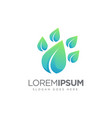 abstract modern leaf footprint logo icon template vector image