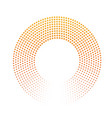 abstract ring of dots halftone effect with orange vector image vector image