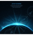 Abstract space fantastic background with vector image vector image