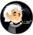 albert einstein editorial cartoon vector image vector image