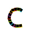 Alphabet C with colorful polaroids vector image vector image
