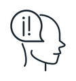 alzheimers disease neurological brain anxiety line vector image
