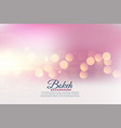 beautiful bokeh lights effect blurred background vector image