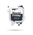 black friday sale poster with 3d flow shape vector image vector image