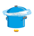Boiling pot of water Cookware for cooking vector image vector image