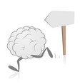 brain running and direction sign vector image vector image