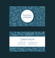 business doodle icons business card vector image
