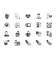 cardiology flat icons vector image