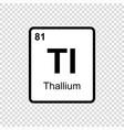chemical element thallium vector image vector image
