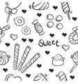 collection stock of candy sweet doodles vector image vector image