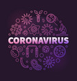 coronavirus concept linear colorful round vector image vector image
