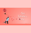 creative of love valentines day concept vector image vector image