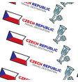 crystal glass and national flag czech republic vector image vector image