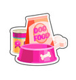 dog food composition sticker vector image