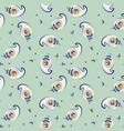 feather cute green mint seamless pattern vector image