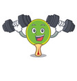 fitness ping pong racket character cartoon vector image
