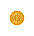 flat bitcoin golden coin icon vector image