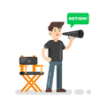 flat style of movie director vector image vector image