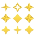 Four point stars collection vector image vector image