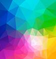 full spectrum polygon triangular pattern vector image vector image