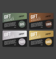 gift card design in black with colored abstract vector image vector image