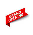 grand opening red ribbon banner sign sale vector image vector image