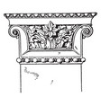greek-ionic pilaster capital influence vintage vector image vector image