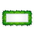 green rectangle frame vector image vector image