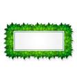 green rectangle frame vector image