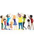 group people looking up vector image vector image