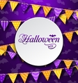 Halloween Greeting Card with Colored Bunting vector image vector image